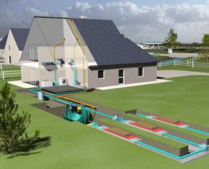 Схема канализации в загородном доме.